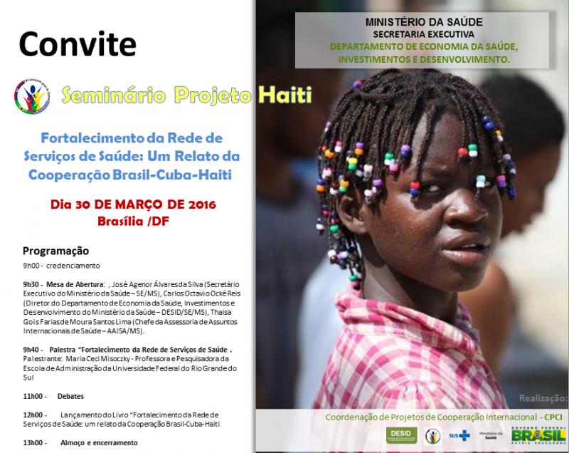 CONVITE Seminario projeto Haiti DESID